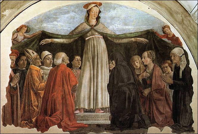 Domenico ghirlandaio, madonna della misericordia, ognissanti, Firenze